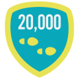 Fitbit 20k Step Day: 20,000 steps in 1 day! Way to be an overachiever - that's twice the daily recommended amount.