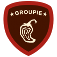 Chipotle Groupie: Hey, guac star you've earned the coveted Groupie Badge and are entered to win Burritos for a year. Each time you check-in again, you'll be re-entered to win. Burritoful.