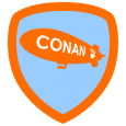 Conan Blimpspotter 2010: You've spotted The Conan Blimp! A big orange bag of slow moving gas has never looked so pretty. Visit www.teamcoco.com for more Conan!