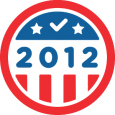 I Voted 2012: Congrats on doing your civic duty! Here's a badge to commemorate the occasion, just in case they ran out of stickers at your polling station. Check out election.foursquare.com to see America voting, and remind your friends to vote!