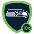 Seattle Seahawks: Bigger, Faster, Stronger, Louder! Thanks for creating the best home field advantage in the league. SEA - HAWKS!