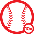 Triple Play: A handful of big-league stadium check-ins from 1 baseball fan who happens to have 2 thumbs? By our count, you're only a 4-bagger short of the foursquare cycle! We tried putting the badge in the Cracker Jack box. Didn't fit.